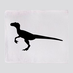 Dinosaur velociraptor Throw Blanket