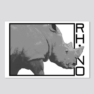 rhinoceros Postcards (Package of 8)