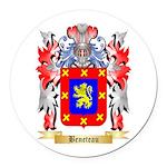 Beneteau Round Car Magnet