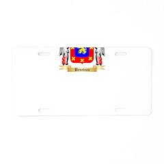 Beneteau Aluminum License Plate