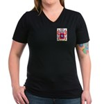 Benet Women's V-Neck Dark T-Shirt