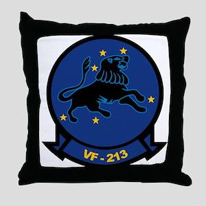 F-14 Tomcat VF-213 Black Lion Throw Pillow