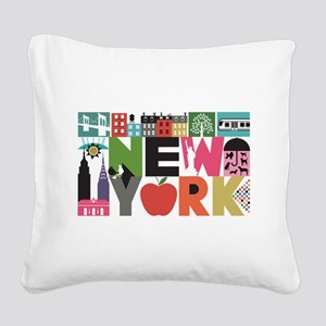 Unique New York - Block by Block Square Canvas Pil