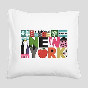 Unique New York - Block by Block Square Canvas Pil