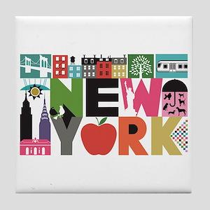 Unique New York - Block by Block Tile Coaster