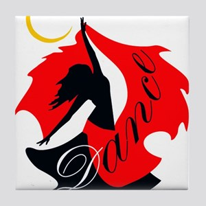 Dancing Dancer Tile Coaster