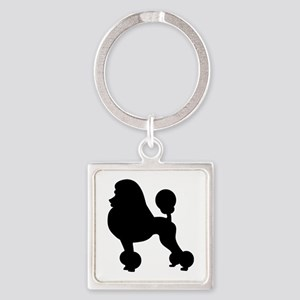 Poodle Square Keychain