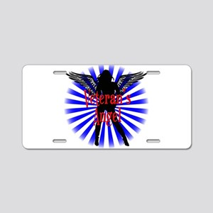 Veteran's Angel Aluminum License Plate