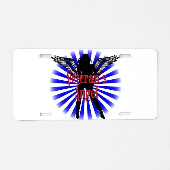 Veteran's Angel Aluminum License Plate