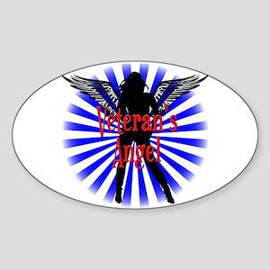 Veteran's Angel Sticker (Oval)