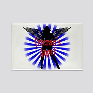 Veteran's Angel Rectangle Magnet