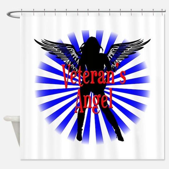 Veteran's Angel Shower Curtain