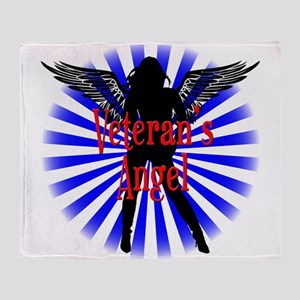 Veteran's Angel Throw Blanket
