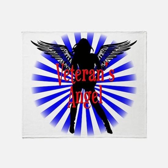 Veteran's Angel Throw Blanket