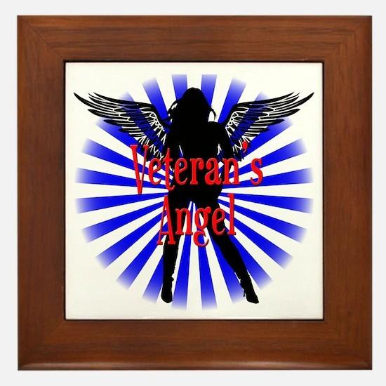Veteran's Angel Framed Tile