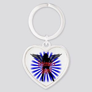Veteran's Angel Heart Keychain