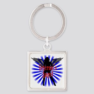Veteran's Angel Square Keychain
