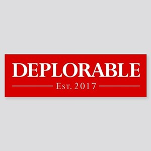 Deplorable Est 2017 Sticker (Bumper)