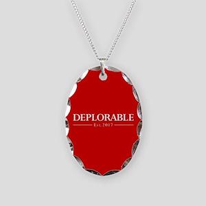 Deplorable Est 2017 Necklace Oval Charm