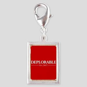 Deplorable Est 2017 Silver Portrait Charm