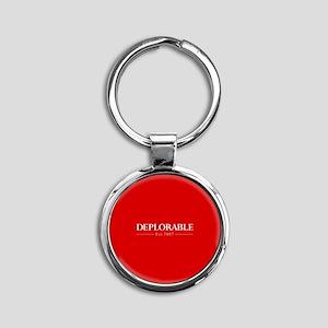 Deplorable Est 2017 Round Keychain