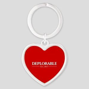 Deplorable Est 2017 Heart Keychain