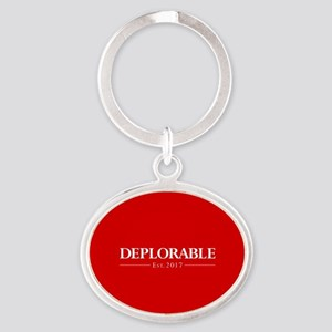 Deplorable Est 2017 Oval Keychain