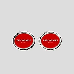 Deplorable Est 2017 Oval Cufflinks
