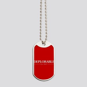 Deplorable Est 2017 Dog Tags