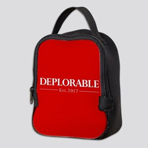 Deplorable Est 2017 Neoprene Lunch Bag