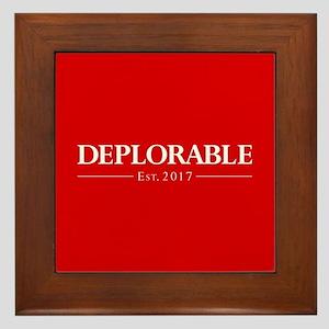 Deplorable Est 2017 Framed Tile