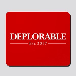 Deplorable Est 2017 Mousepad