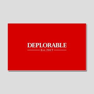 Deplorable Est 2017 Car Magnet 20 x 12