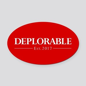 Deplorable Est 2017 Oval Car Magnet