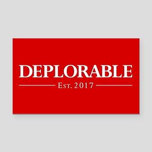 Deplorable Est 2017 Rectangle Car Magnet