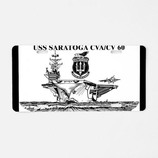 USS Saratoga Aluminum License Plate