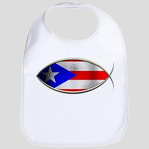 Ichthus - Puerto Rican Flag Bib