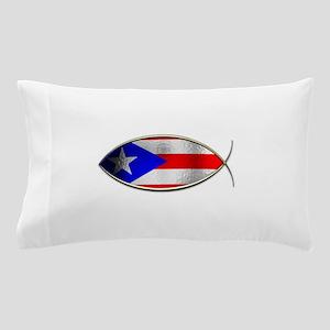 Ichthus - Puerto Rican Flag Pillow Case