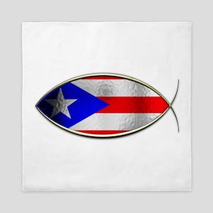 Ichthus - Puerto Rican Flag Queen Duvet