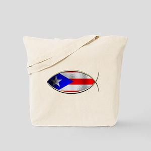 Ichthus - Puerto Rican Flag Tote Bag