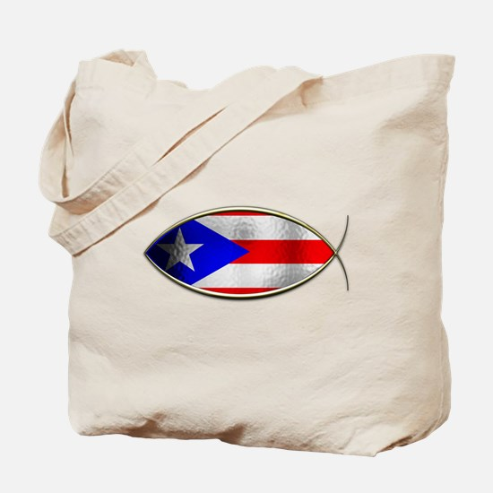 Ichthus - Puerto Rican Flag Tote Bag