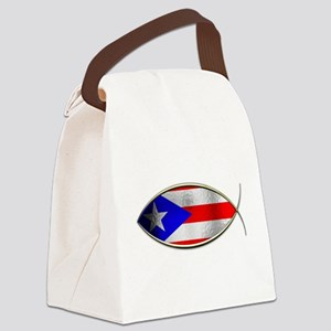 Ichthus - Puerto Rican Flag Canvas Lunch Bag
