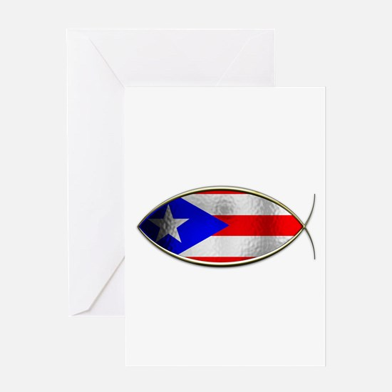 Ichthus - Puerto Rican Flag Greeting Card