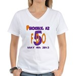 FDO 5 AZ / Cities (multi) Women's V-Neck T-Shirt
