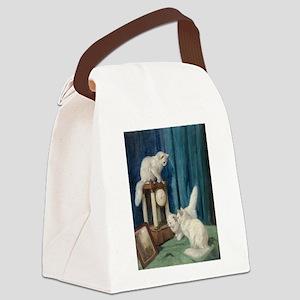Clock Watchers Canvas Lunch Bag