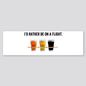 I'd rather be on a flight - sticker