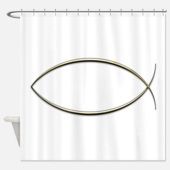 Ichthus Shower Curtain