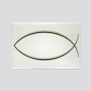 Ichthus Rectangle Magnet