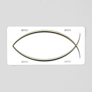 Ichthus Aluminum License Plate
