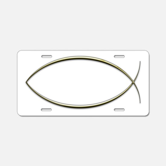 Ichthus Aluminum License Plate